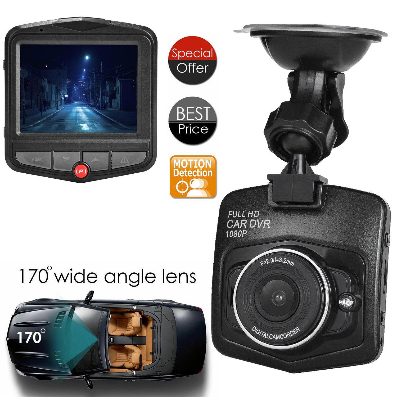 HD 12 megapixels 1080P coche DVR grabadora de conducción de cámara 2,4 pulgadas LCD noche vehículo visión Video cámara de salpicadero construido-En G Sensor micrófono