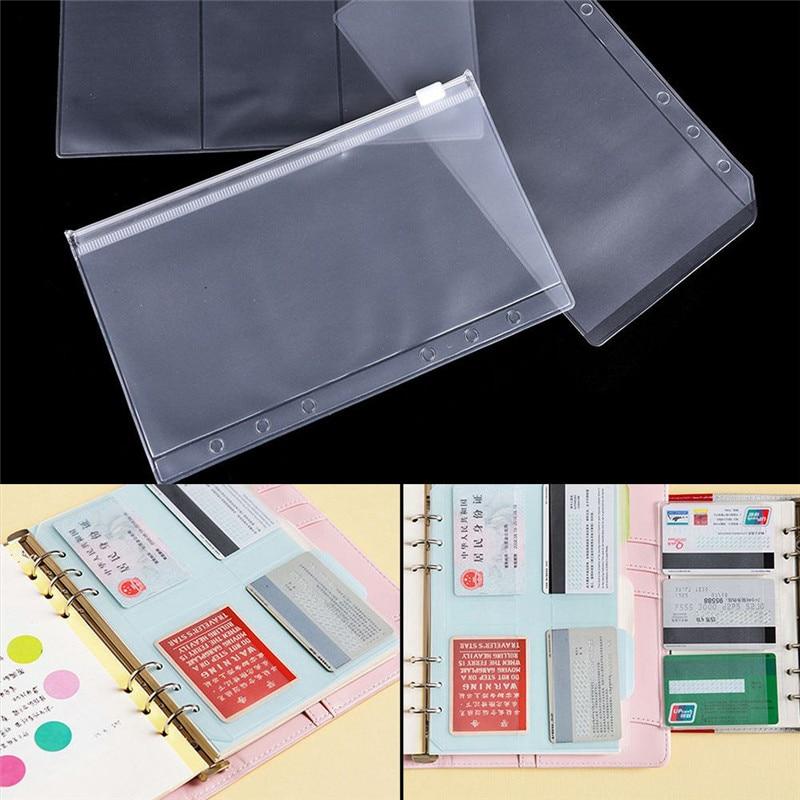 Wholsesale A5/A6 Transparent Zip Lock File Folder Organizer Frosted Zip Lock Envelope Binder Pocket Refill Bag School Supplies