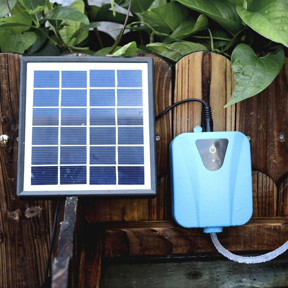 Oxigenador con energía Solar, para acuario bomba de aire, agua de carga, planta, tanque de peces, compresor de aire para oxígeno, aireador, fabricante de aire