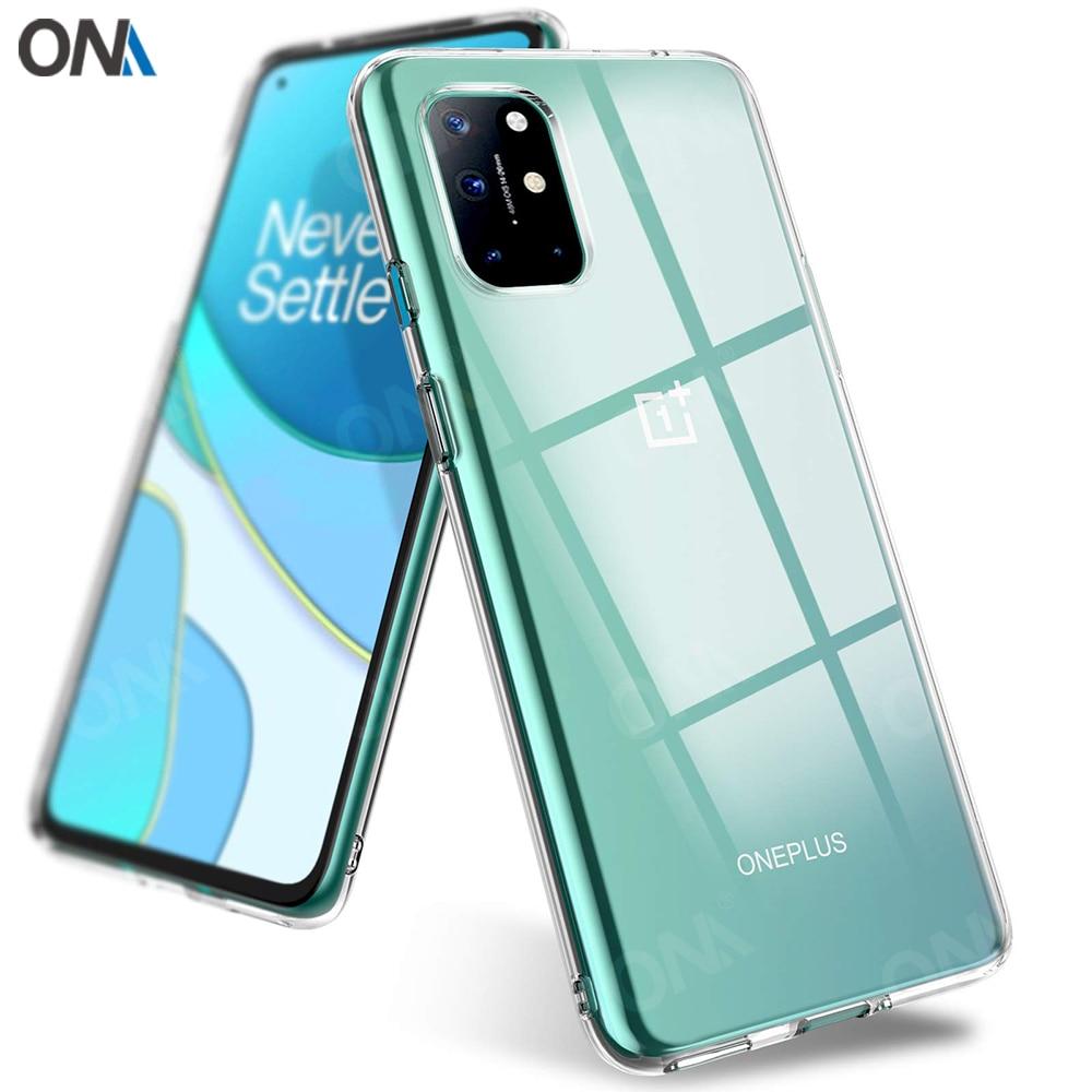 Fall Für OnePlus 8T / 8T Plus 5G TPU Silikon Klar Ausgestattet Bumper Soft Case für Eine plus 1 + 8T 5G 6,55 Transparent Zurück Abdeckung