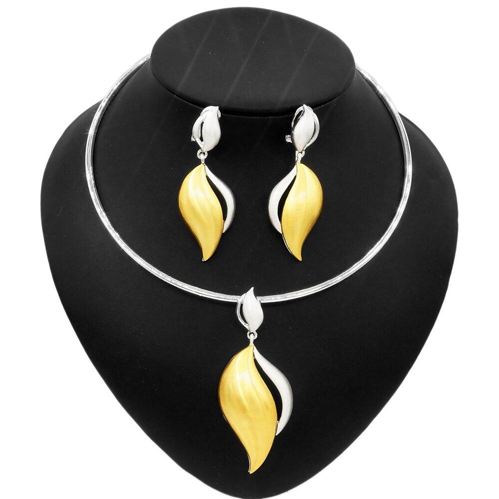 Yulaili مبيعات المصنع مباشرة رائعة طقم مجوهرات فضية الولايات السيدات بالجملة بقعة قطعتين أسلوب بسيط جودة قلادة مجموعة
