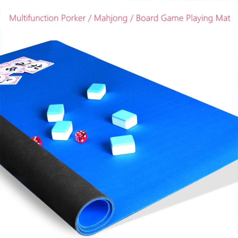 0.3mm Thicken Rubber Board Game Mahjong Poker Game Mat Family Home Games Play Mat Waterproof Non-slip Multifunction Playmat Mats