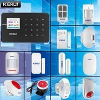 KERUI     systeme dalarme domestique sans fil  GSM  433MHZ  capteur de porte  capteur infrarouge  pour maison connectee