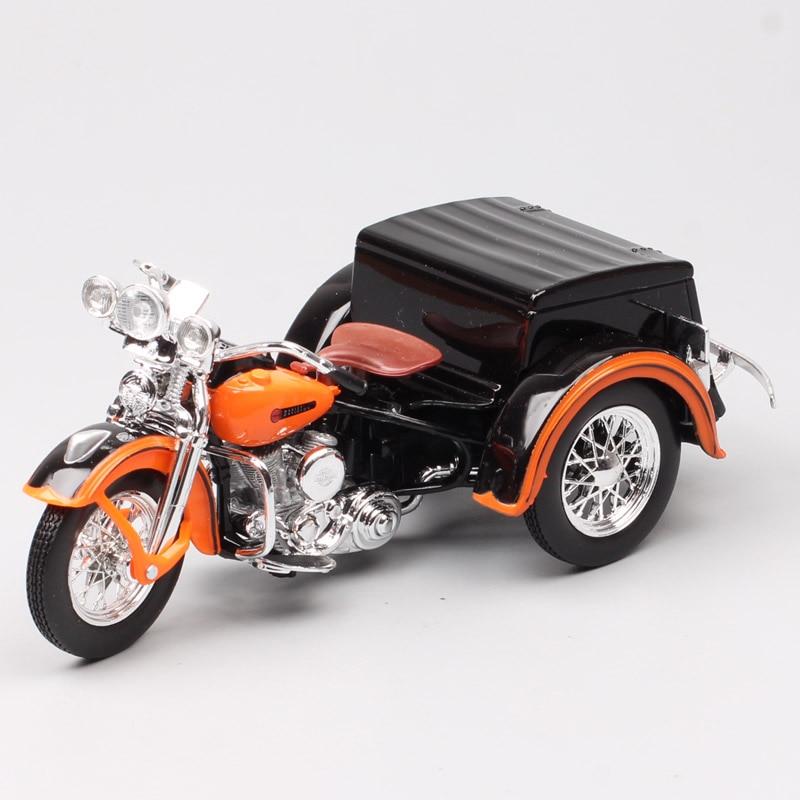 1/18 escala maisto classics vintage old 1947 Servi-Car sidecar motocicleta comidas y vehículos de juguete de tres ruedas modelo de bicicleta Juguetes