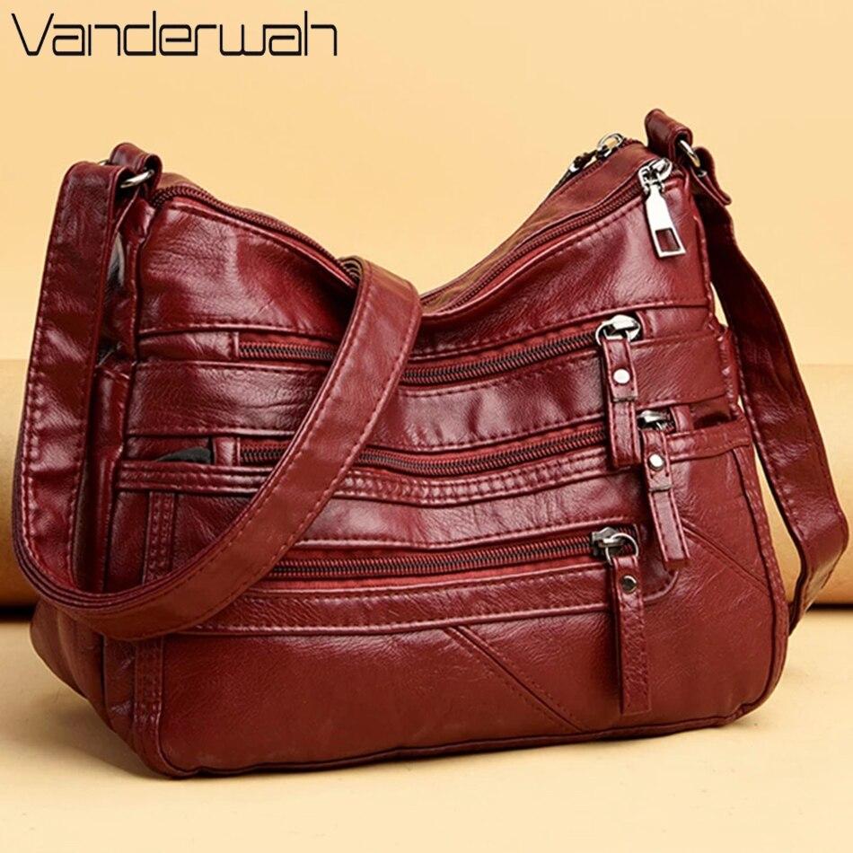 2021 Women Shoulder Bag Leather Luxury Handbags Women's Bags Designer Shoulder Crossbody Bag Female Fashion Female for Ladies