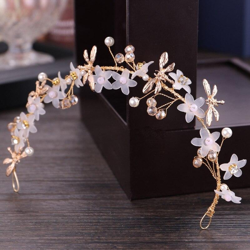 Crystal flower headband headdress exquisite floral bridal accessories