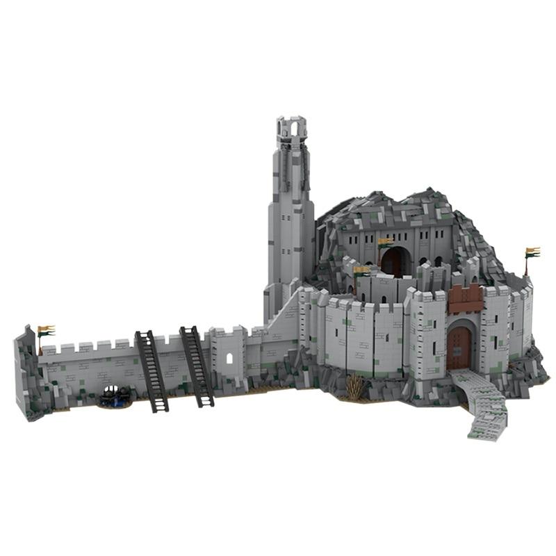 Moc الهندسة المعمارية سلسلة هيلم عميق UCS مقياس قلعة الحرب العالم الشهير القرون الوسطى كتل بناء القلعة لتقوم بها بنفسك لعبة kidsالجمعية