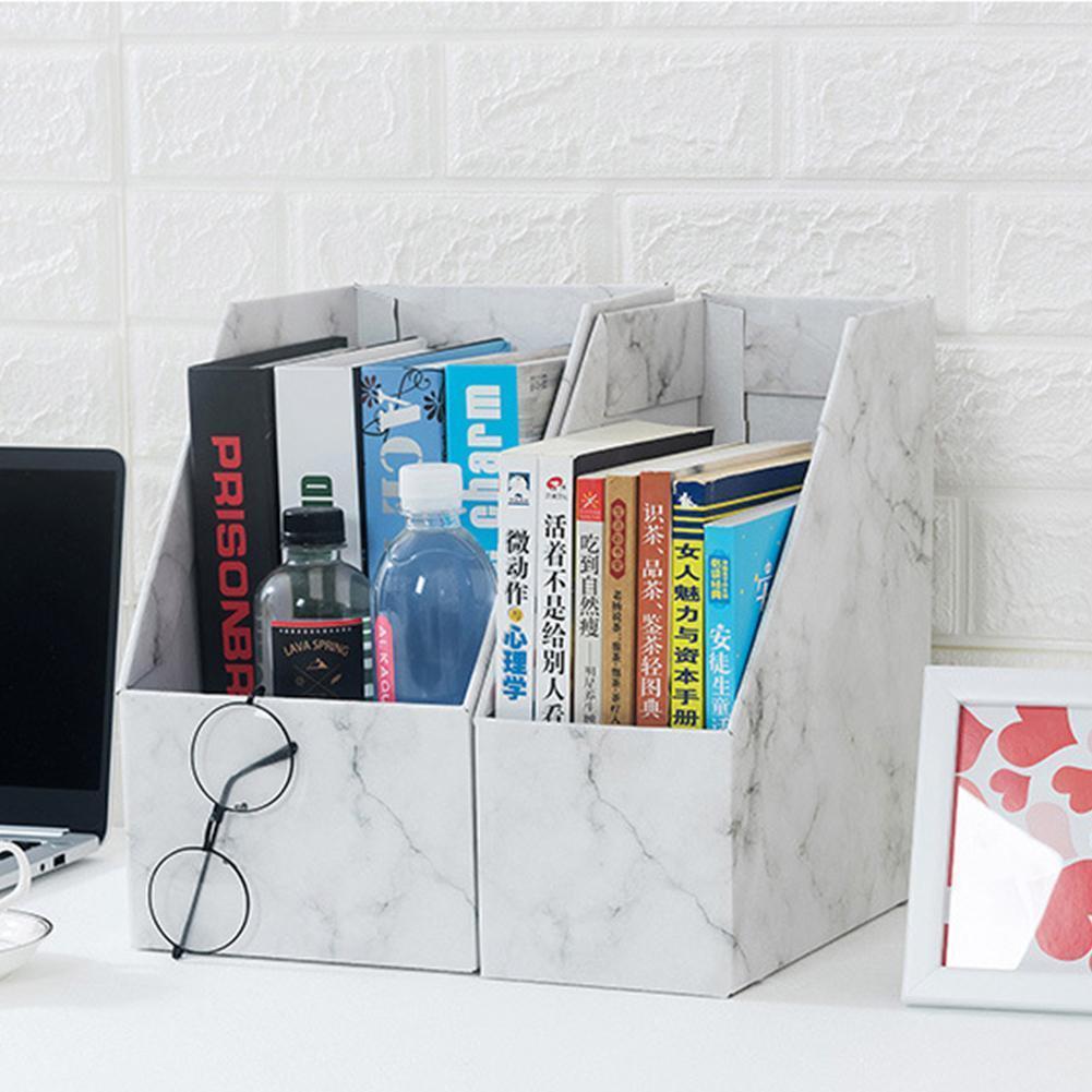 DIY Kraft Paper Bookend Book Holder Book File Bookends Holder Organizer School Book Stand Office Stationery Bookshelf A5E1