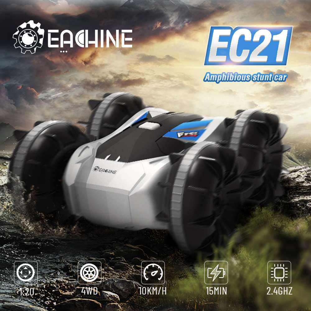 Eachine EC21 2 in 1 Amphibious RC Drift Car with RC Boat mode 1/20 4WD 2.4G Remote Control Autos Toy