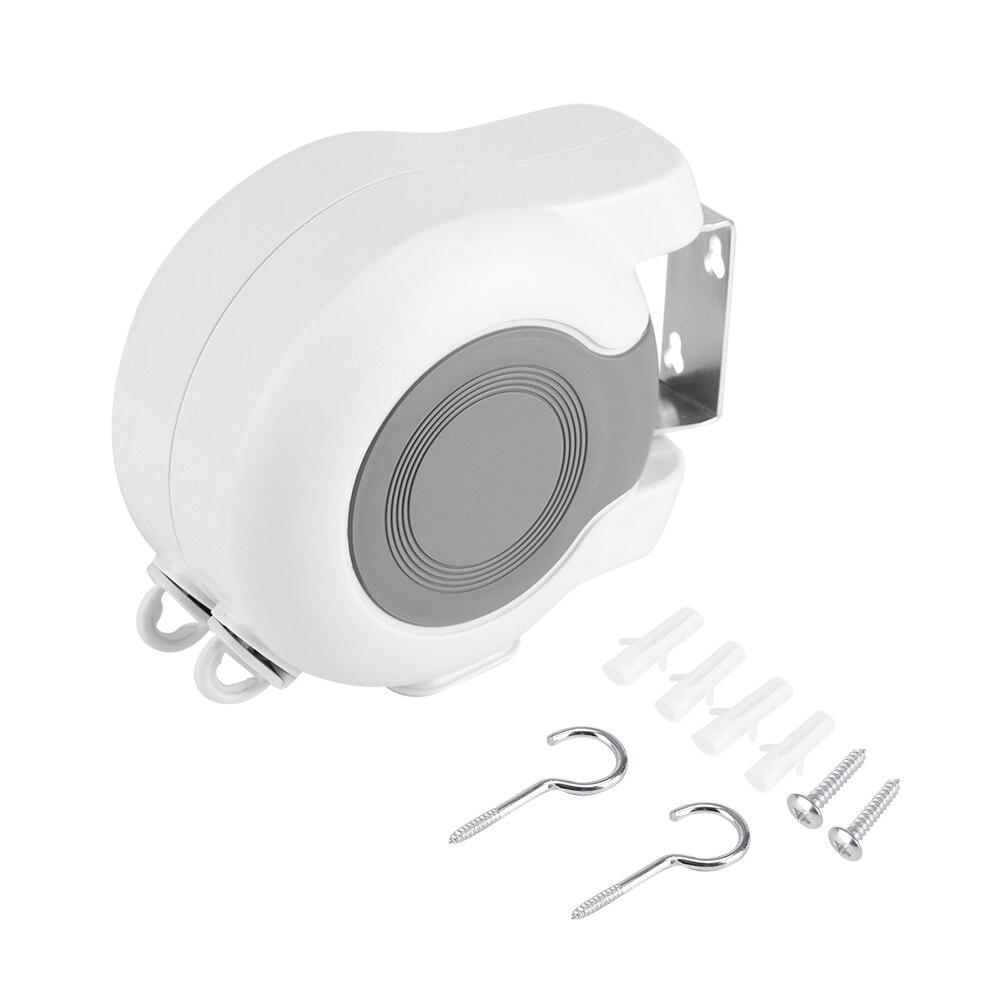 Ferramenta de varal retrátil telescópica, fixada na parede, dupla, roupas de secagem, linha, área interna e externa, lavagem, varal