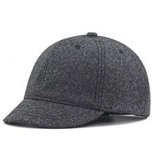2019 Winter Large Size Baseball Caps Old Men Warm Short Peak Wool Hat Big Head Man Plus Size Felt Snapback Cap 56-61cm 62-68cm