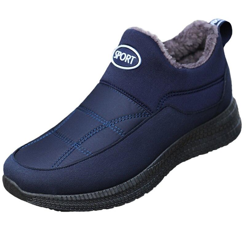 Tamanho de Pouco Cresfimix Zapatos Hombre Moda Masculina Mais Peso Inverno Quente Botas Curtas Preto Conforto Neve Outono B6387