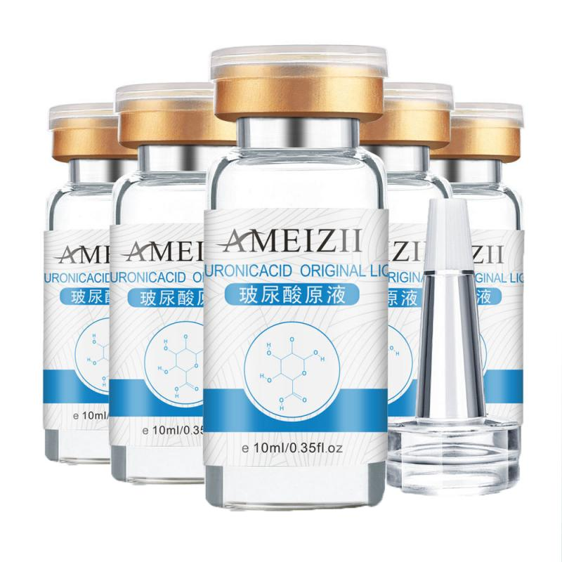 AMEIZII 10ml Pure Hyaluronic Acid Skin Care Serum Moisturizing Whitening Face Anti Aging/wrinkle Snail TSLM1