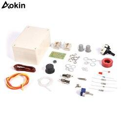 Aokin 1-30 mhz led vswr diy kit sintonizador de antena manual para rádio presunto cw qrp q9 interface bnc sintonia 1