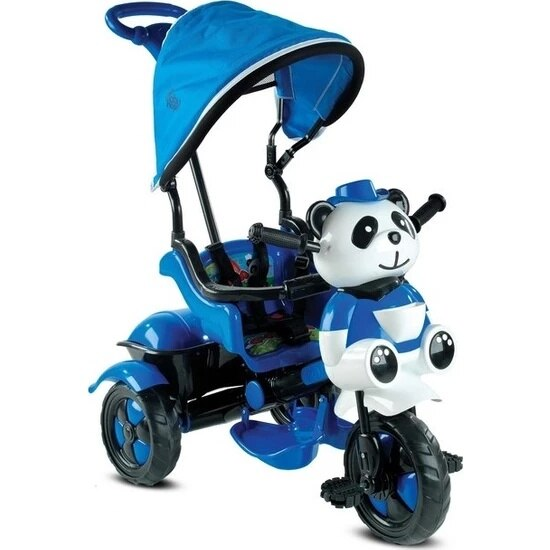 Panda Parent-Controlled Tricycle For Kids Bike Male Girl Toddler Training Protective Baby Scooter enlarge