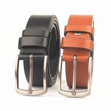 New Retro men's belt classic rectangular pin buckle fashion wild simple fashion belt