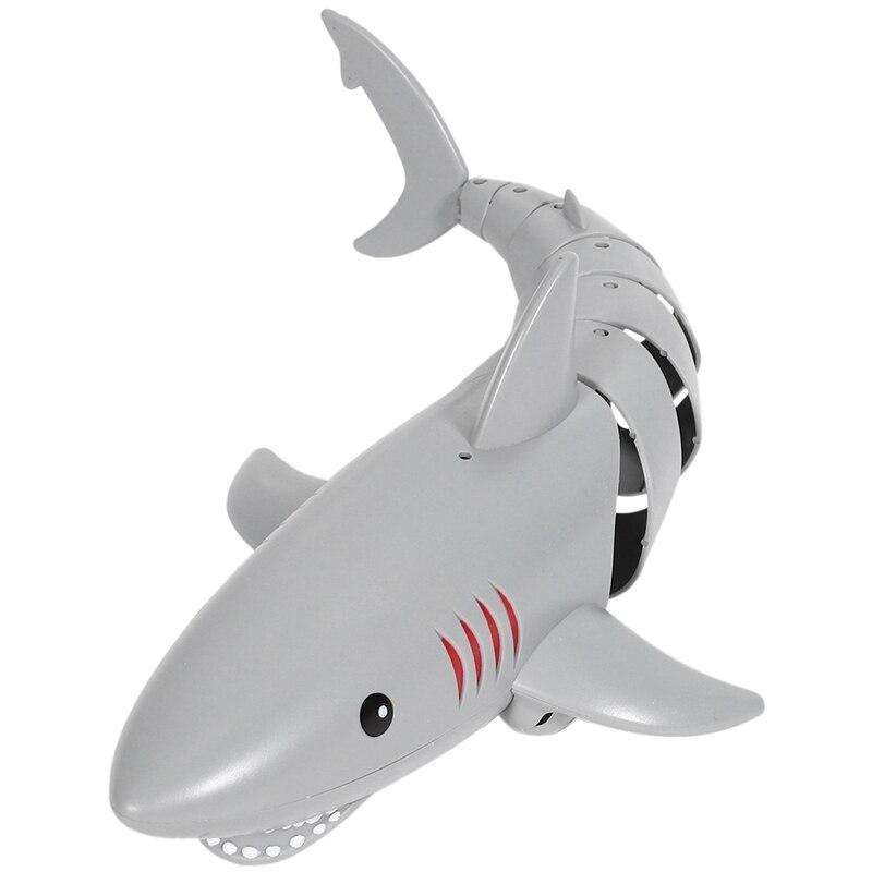 LENENG 2.4G RC Simulation Shark Model Kids Toys Remote Control Shark Boat Electric Waterproof Swimmi