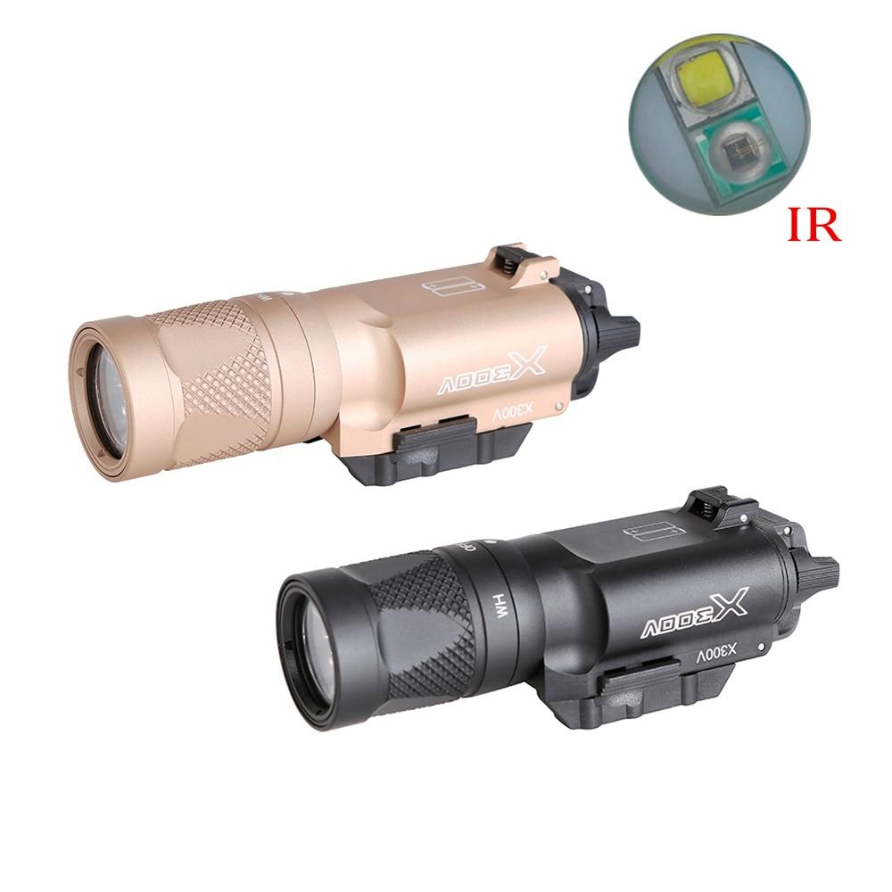 Linterna táctica serie X300 X300V IR, linterna LED de visión nocturna, arma, linterna de pistola compatible con riel de 20mm