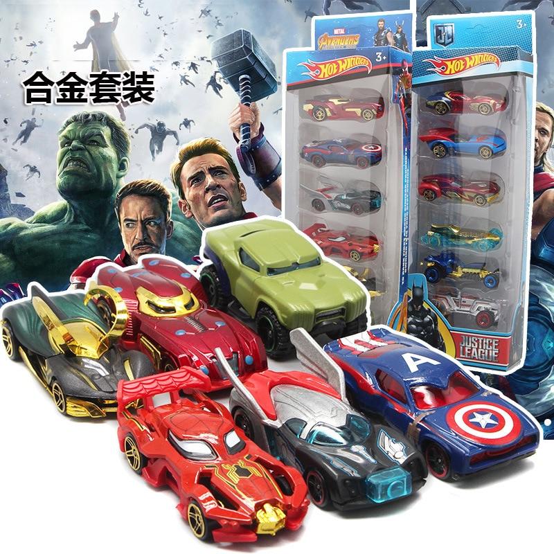Avenger Set 6  Cars Toys HOT Fire Wheels Mini  1 64 model inertia pocket alloy small sports car toy boy  birthday gift