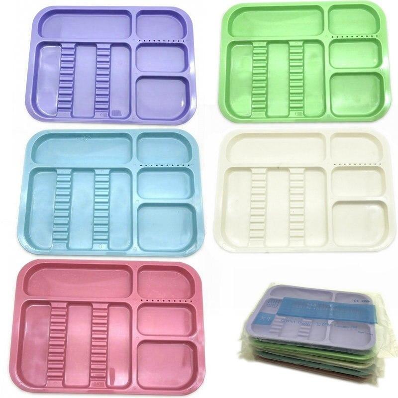 Plastic Dental Instruments Tray Split Segregated Placed Trays 135 Degree Autoclavable Storage Tweeze