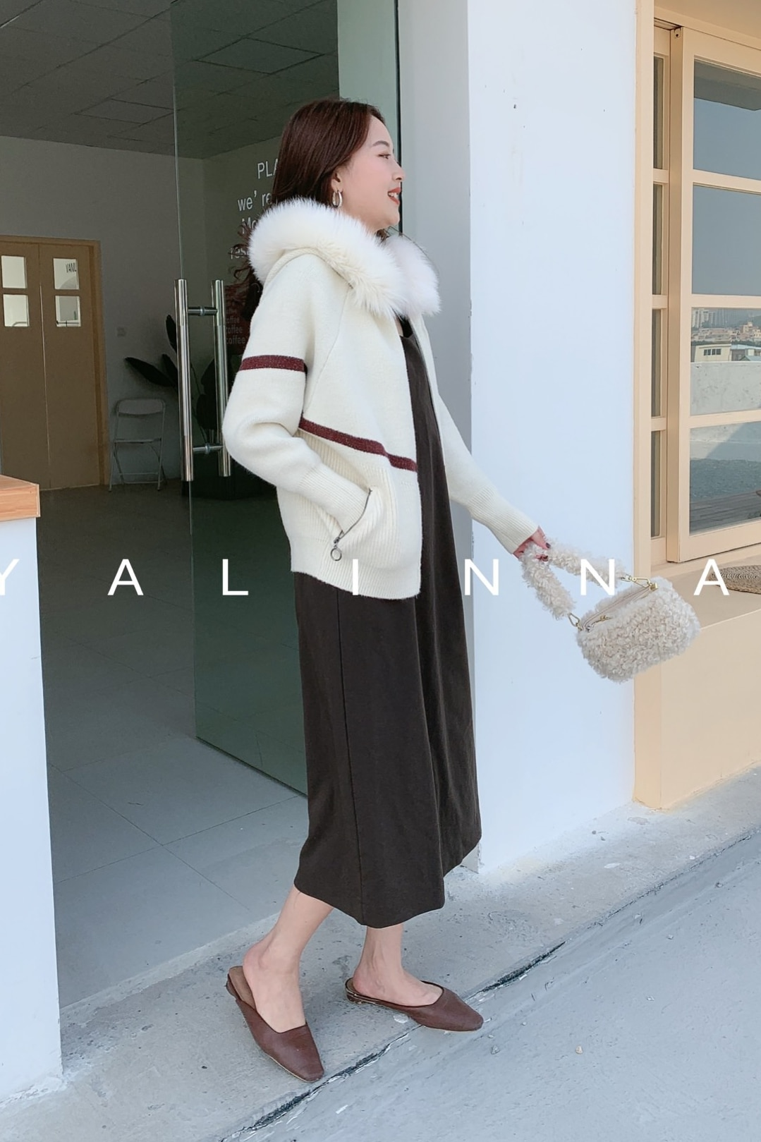 Jumper Mink Regular Women Sweaters And Poncho 2020 Mink Computer Knitted Winter New Fox Real Collar Contrast Stitching Sweater enlarge