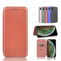 luxury fashion carbon fiber flip leather phone case for tcl 10 pro lite 5g uw 10l with card slot shockproof cover coque capa