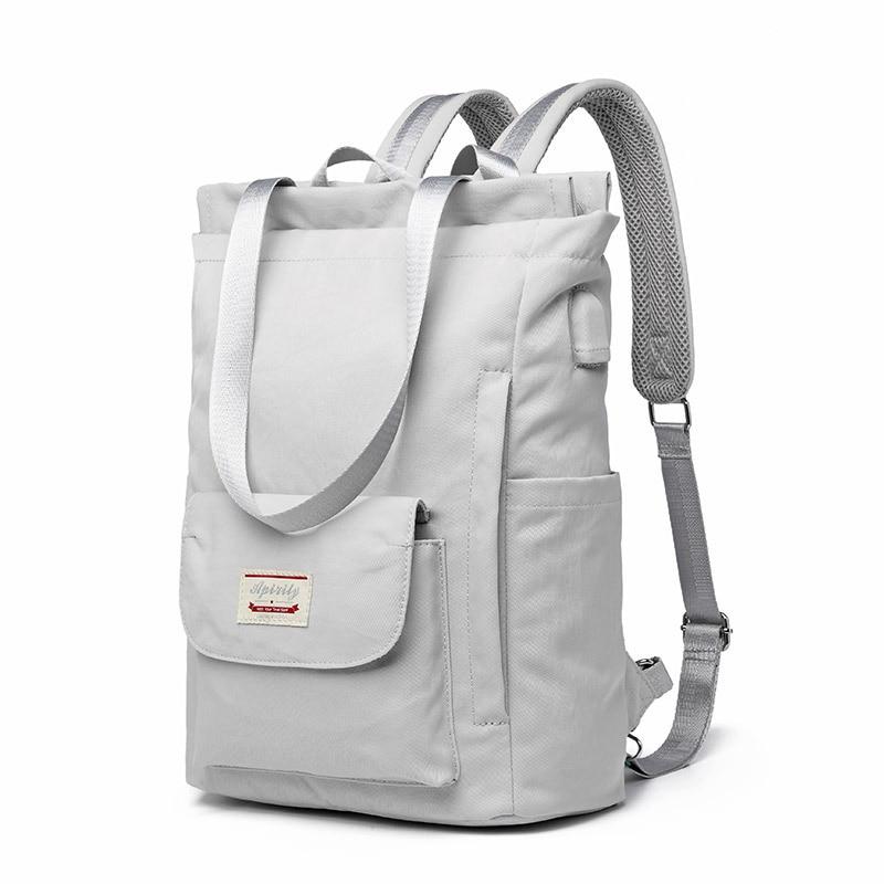 Waterproof Stylish Laptop Backpack women 13 13.3 14 15 15.6 inch Korean Fashion Oxford Canvas USB College Back pack bag female