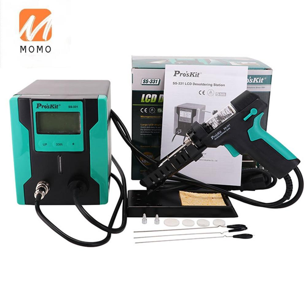 331h 110V/220V LCD Digital Electric Desoldering Pump Suitable for BGA Desoldering Suction Vacuum Desoldering Gun Automatic Sleep enlarge