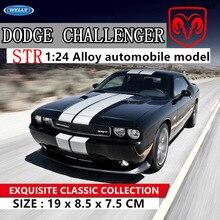 WELLY 124 Dodge Challenger 2012 voiture alliage voiture modèle simulation voiture décoration collection cadeau jouet moulage sous pression modèle garçon