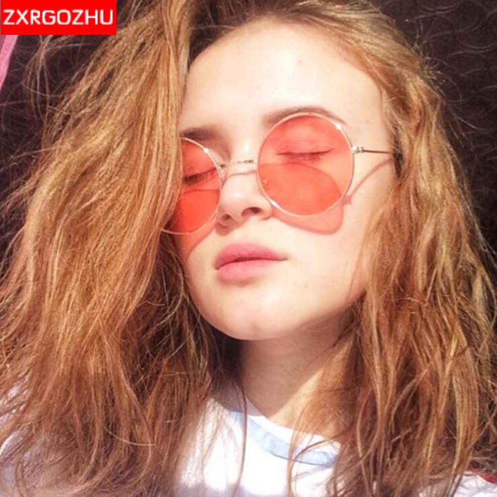 Round Vintage Sunglasses Women Candy Color Lens Sun glasses Ladies Eyewear Frame UV400 gafas de sol