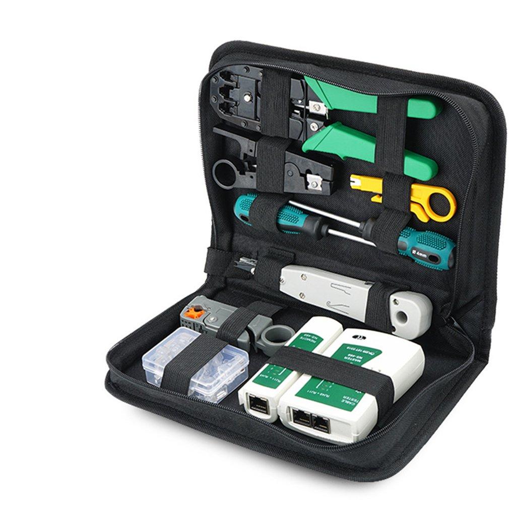 Набор инструментов для ремонта компьютерной сети, тестер кабеля LAN, резак для проводов, отвертка, плоскогубцы, обжимной набор инструментов д...