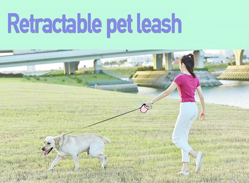 Retractable Pet Dog Leash with 3m & 5m length