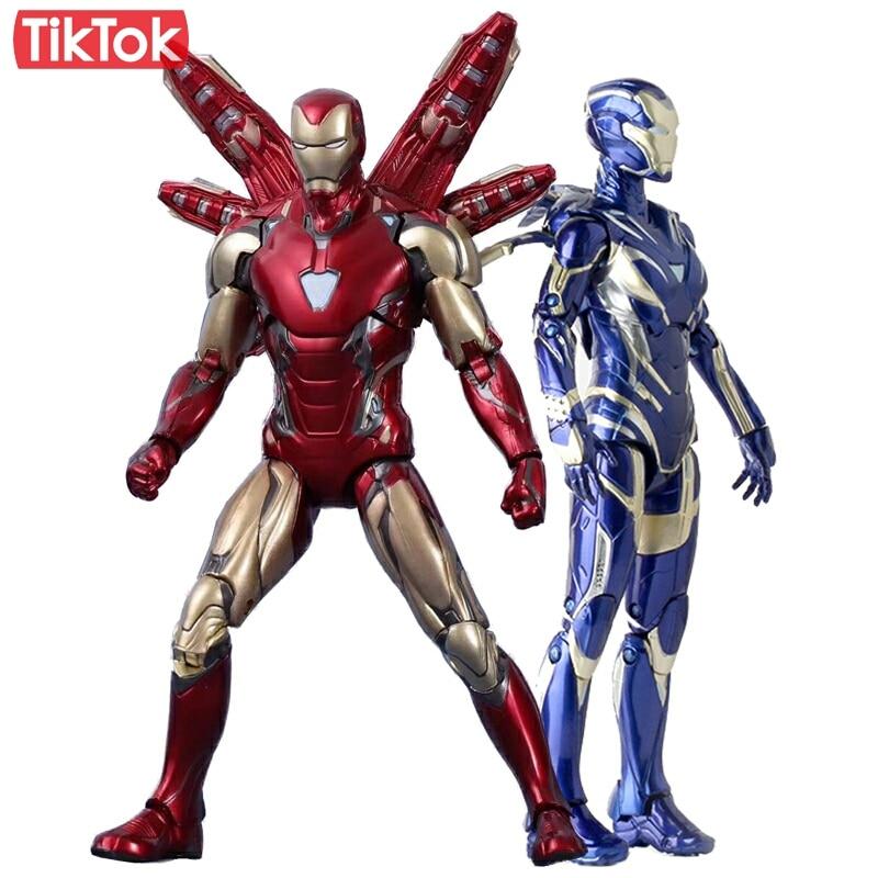 Avengers 4 Endgame Iron Man Mk85 Ironman Mark 85 Pepper Potts Mk49 Rescue Nano Weapon Set Tony Stark Toy Action Figure Model