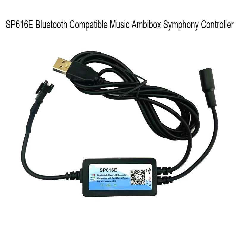 Bluetooth-совместимая музыкальная шкатулка SP616E, USB-монитор, компьютер, подсветильник ка, ПК, экран, бокс для Пиксельной подсветки DC5V WS2812B