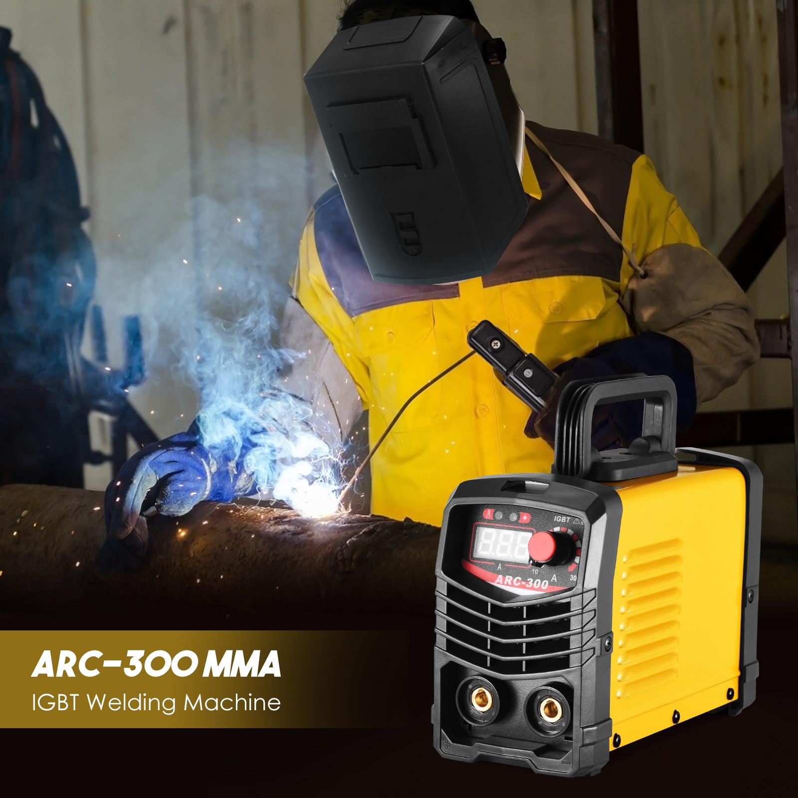 ARC MMA -300Amp IGBT Electric LCD Welders Inverter 220 V Weldering Machine with Electrode Holder Grounding Clip Welding Rods enlarge