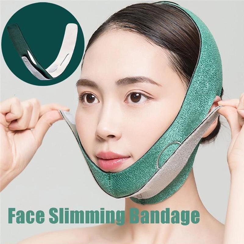 Dispositivo para levantar la cara durmiente, 3D potente herramienta de belleza, vendajes de cara delgada, corrector de cara en V, cuidado de la piel