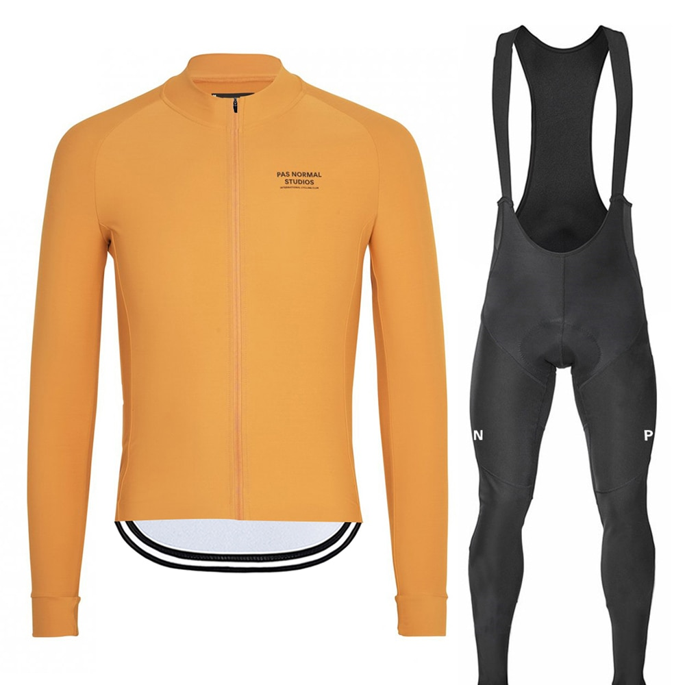 2019 Pro Team PNS Autumn Men's Cycling  Jersey Set Long Sleeve MTB Bike Cycle Clothing Wear Bib GEL Pad Suit Ropa De Ciclismo