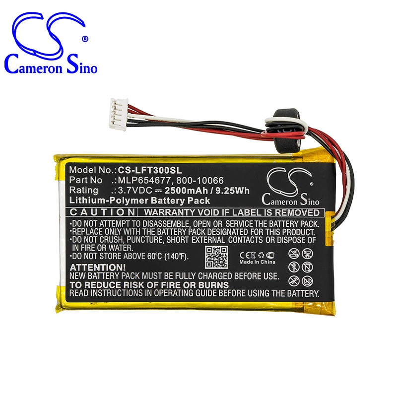 Cameronsino para leappad leappad 3 800-10066 mlp654677 bateria