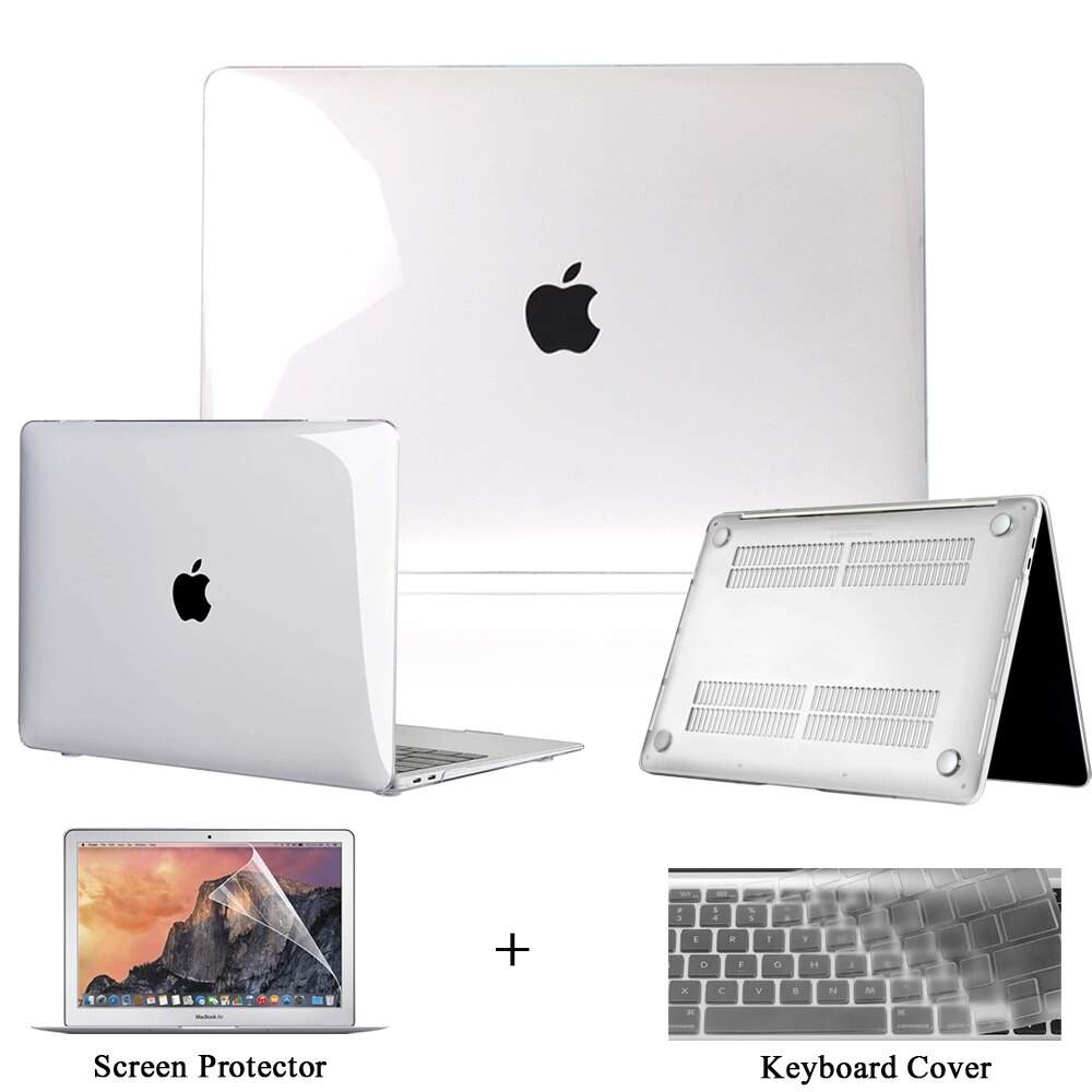 Crysta Case for Apple Macbook Air Pro 11/12 /13/15/16 Inch, Laptop Hard Shell for Air 13 A2179/Pro 13 A2251 A2338 Cover