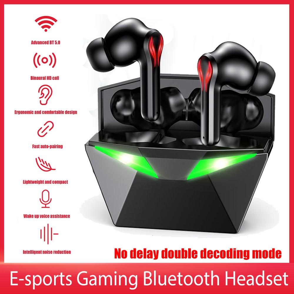 المهنية سماعات رأس للألعاب سماعة رأس لاسلكية منخفضة الكمون TWS بلوتوث سماعة مع هيئة التصنيع العسكري باس الصوت الصوت لتحديد المواقع PUBG