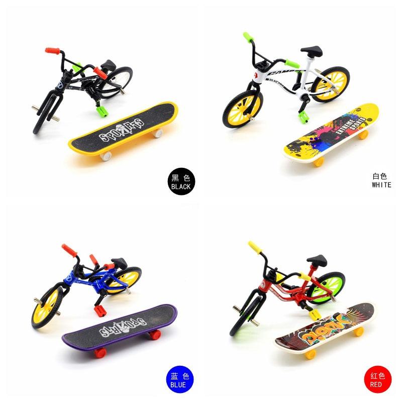 Huilong Finger велосипед Finger скейтборд велосипед игрушки Finger велосипед креативное моделирование сплав съемная модель велосипеда украшение