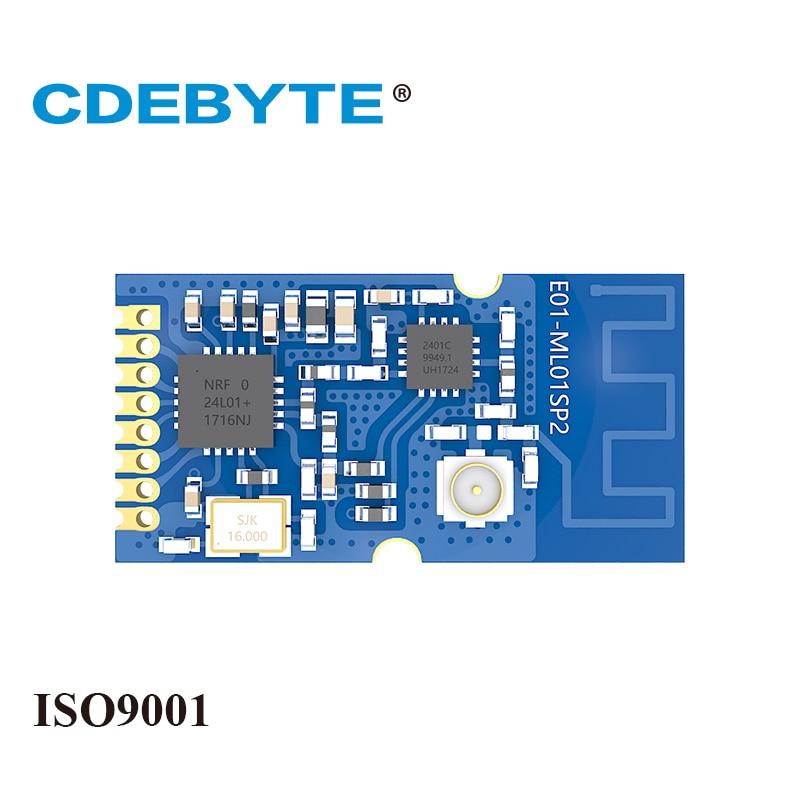 q118 rak439 low power tiny size high speed spi wifi module integrate tcp ip stack wireless iot module with external antenna Ebyte E01-ML01SP2 nRF24L01P 2.4GHz 20dBm 100mW SPI IoT PCB Antenna IPEX nRF24L01 PA LAN Wireless Transceiver Module