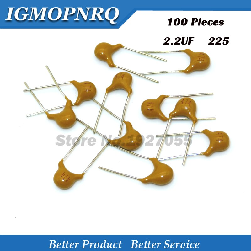 100 pièces Haute qualité condensateur céramique monolithique 2.2UF225 20% 5.08MM 225 50V multicouche MLCC 0805 nouveau original