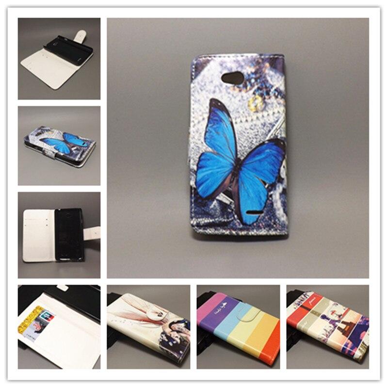 Nueva Flor Mariposa bandera diseño cartera Flip para LG L65 D285 D280 L70 D320 D325... con 2 ranuras para tarjetas y bolsa
