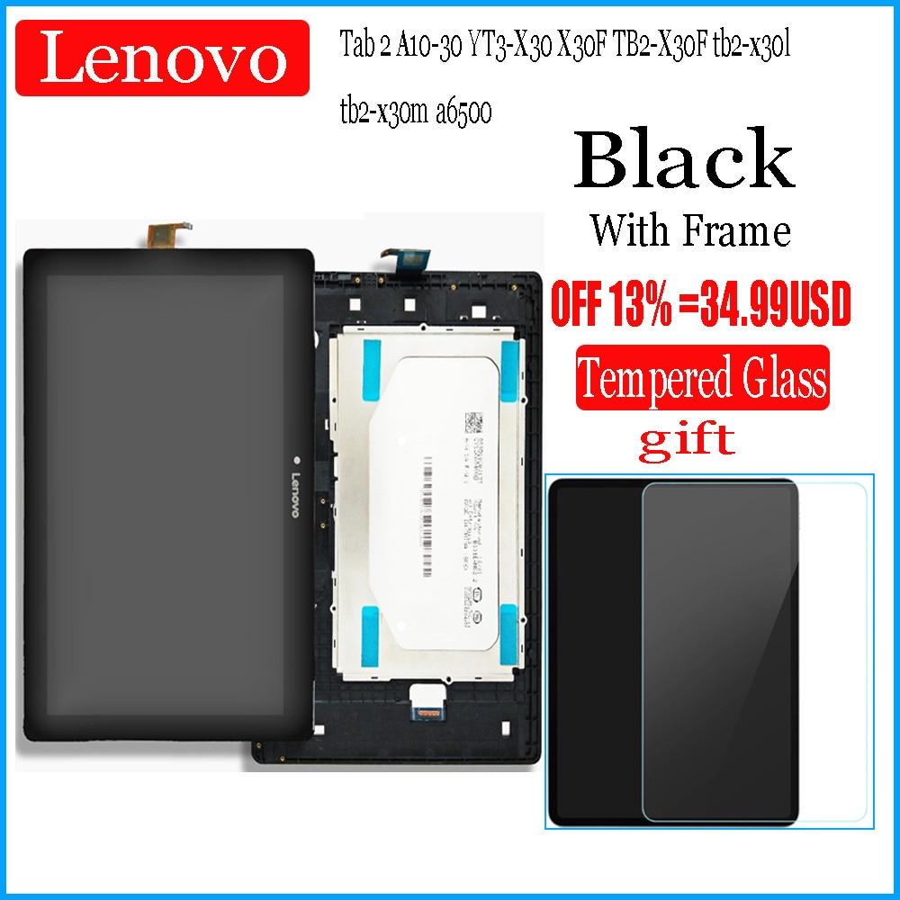 Fo Lenovo Tab 2 A10-30, YT3-X30 X30F, TB2-X30F, tb2-x30l, a6500, 10,1 дюйма, ЖК-дисплей, панель с дигитайзером сенсорного экрана, сборка