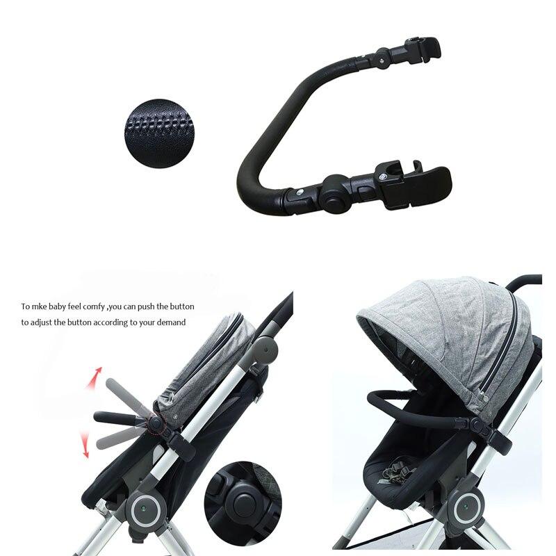 مصد عربة الأطفال ، مسند ذراع المقود ، شريط أمان لـ Stokke Scoot ، غطاء جلد PU ، ملحقات أكسفورد EVA