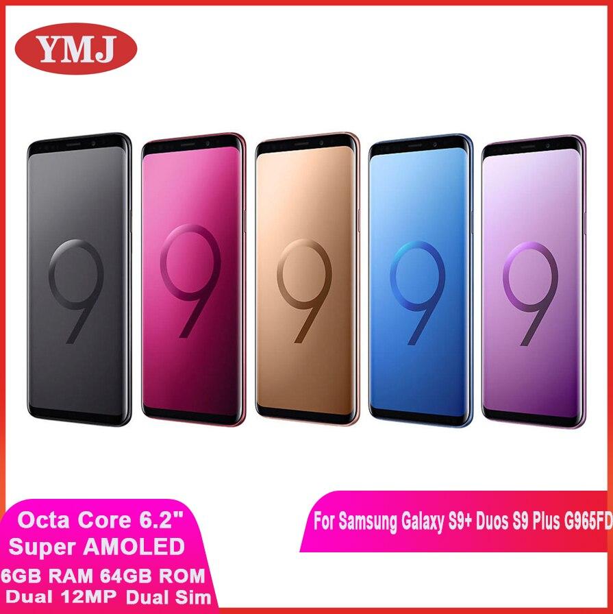 Samsung Galaxy S9 + Duos S9 плюс G965FD Dual Sim оригинальный мобильный телефон Exynos Octa Core 6,2 дюйм двойной 12MP 6 ГБ оперативной памяти, 64 Гб встроенной памяти, NFC для те...