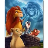 5D BRICOLAGE Diamant Peinture Roi Lion Animal Diamant Mosaique Carre Foret Rond Plein Diamant Broderie Dessin Anime De Noel Decor a la maison