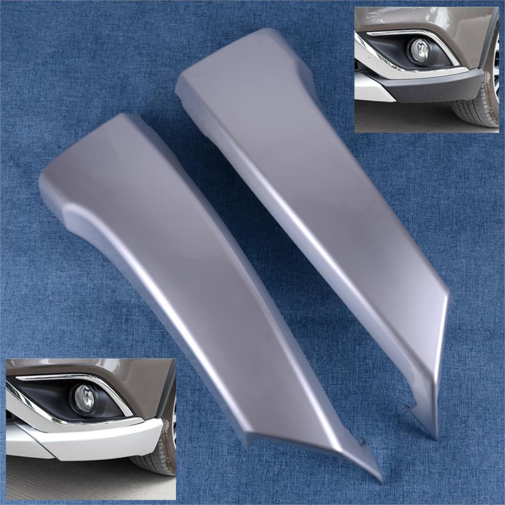 DWCX coche de plata ABS frontal inferior para lateral de parachoques de la parrilla de labio de la esquina guardia de cubierta para Mitsubishi Outlander 2016 de 2017 a 2018