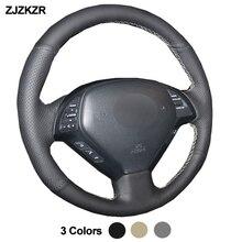 Cubierta del volante del coche para Infiniti G G25 G35 G37 2007-2013 EX EX35 EX37 Q Q40 Q60 QX50 (US) 2014-2018 Volant 2015 2016